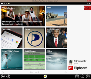 ScreenShot: Flipboard unter Windows 8