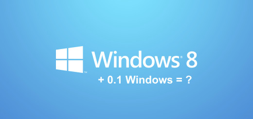 Screenshot: Windows 8 + 0.1 = ?