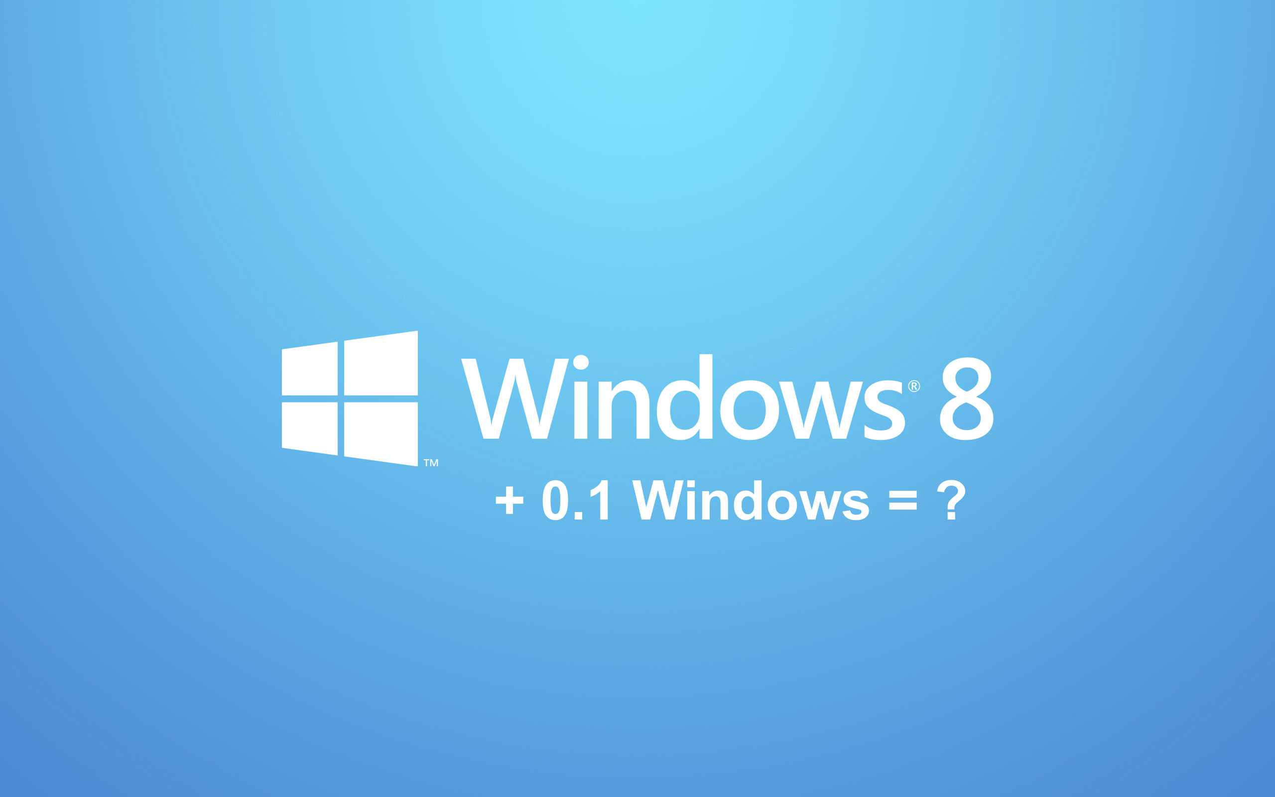 Screenshot: Windows 8 + 0.1 = ?