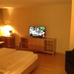 Foto: Blick Richtung TV - Hotelzimmer im Falkensteiner in Wien