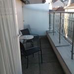 Foto: Balkon vom Zimmer 602 des Hotel Falensteiner in Wien