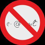 Diagramm: e-Mail mit Verbotszeichen