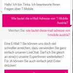 Tinka: Eine e-Mail? Sie können uns doch viel schneller erreichen...