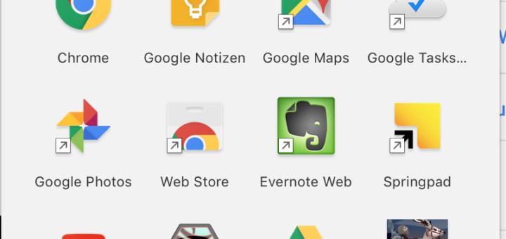 Screenshot: Google App Launcher wird eingestellt